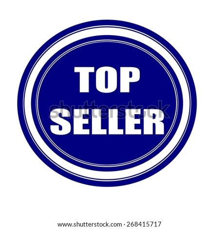 Top seller white stamp text on blueblack - stock photo