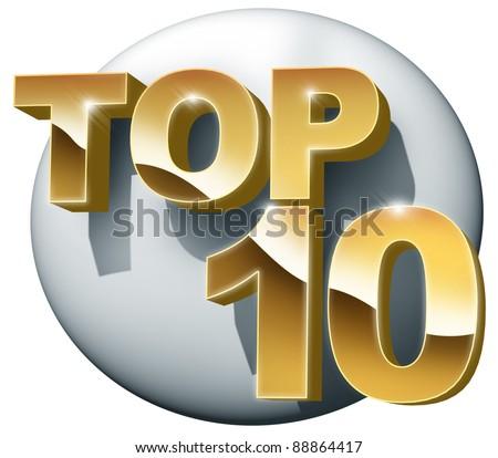 top ten - stock photo