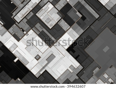 top view city plan. abstract background - stock photo