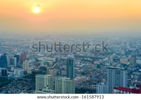 top view from Bangkok - stock photo