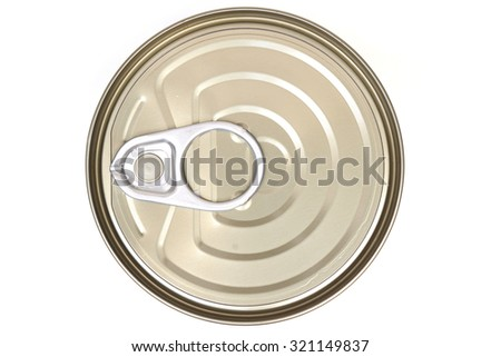 top view of a can food isolated                                - stock photo