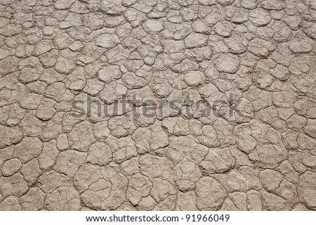 Top view of a dry solid - stock photo