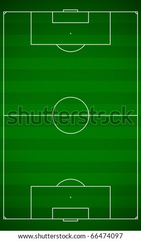 Top view of a soccer field - stock photo