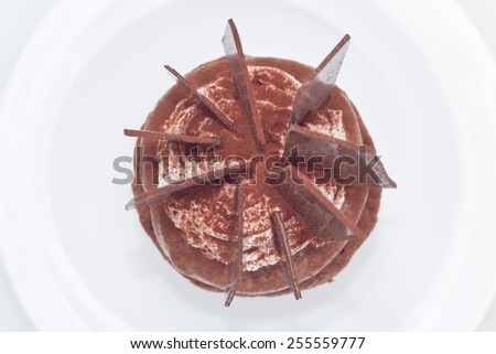 top view of black forest cupcake - stock photo