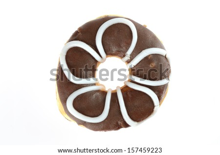 top view of donut - stock photo