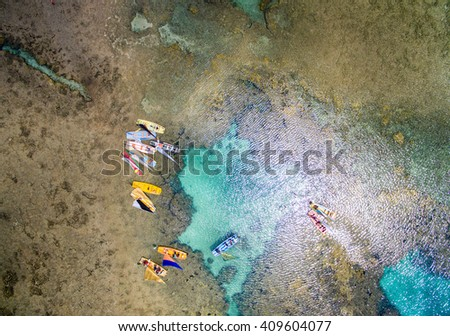 Top View of Great Barrier , Pernambuco, Brazil - stock photo