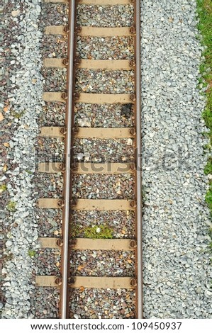 Top view of Railway - stock photo