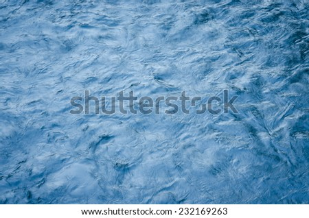 Top View of The water waves effects of waterfall - stock photo