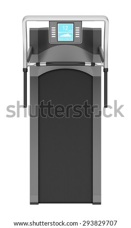 top view of treadmill isolated on white background - stock photo