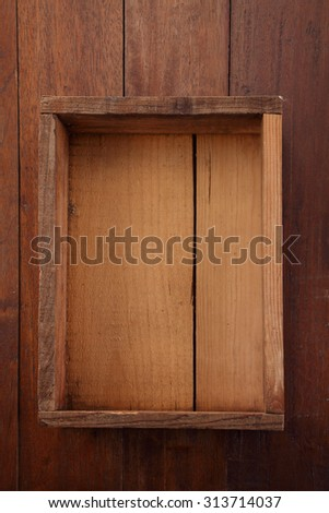 top view old wooden crate  - stock photo