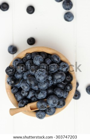 Top view on blueberries - stock photo