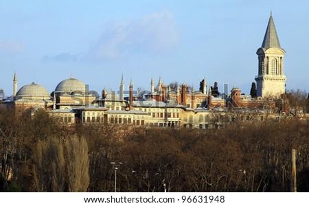 Topkapi Palace in Istanbul, Turkey - stock photo
