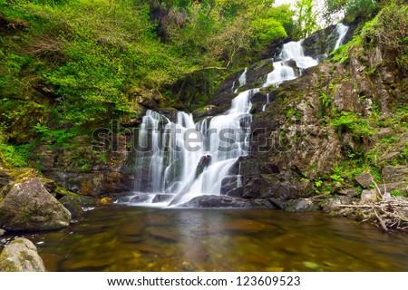 Torc waterfall in Killarney National Park, Ireland - stock photo