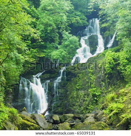 Torc Waterfall, Killarney National Park, County Kerry, Ireland - stock photo