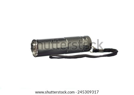 Torch Light isolated on white background - stock photo