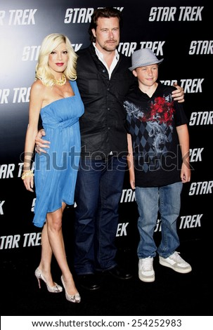 "Tori Spelling at the Los Angeles Premiere of ""Star Trek"" held at the Grauman's Chinese Theatre in Hollywood, California, United States on April 30, 2009.  - stock photo"
