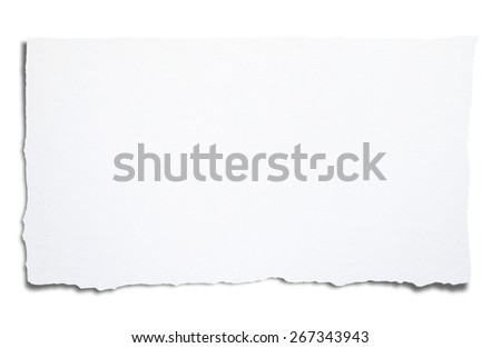 Torn blank paper, with clipping path. - stock photo