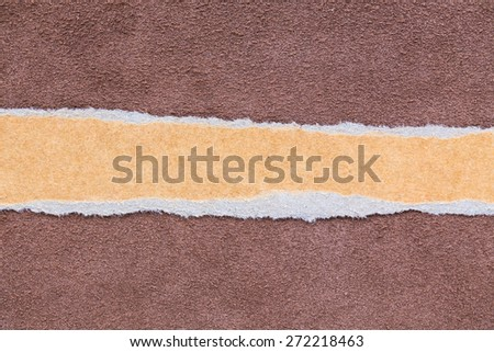 Torn paper background empty for add text, leather texture  - stock photo