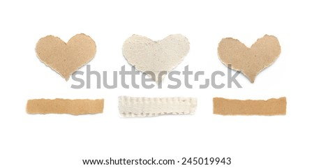 Torn Paper ,background for Valentine`s day . - stock photo
