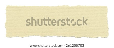 Torn paper, isolated on white background. - stock photo