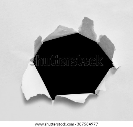 Torn paper, isolated on white background with clipping path. - stock photo