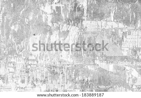 torn posters - stock photo