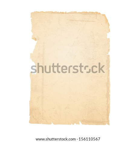 Torn sheet of old paper.Raster version - stock photo