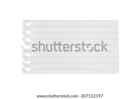 Torn white paper blank on white background. - stock photo