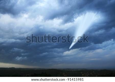tornado - stock photo