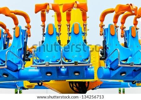 Tornado attractions at Thai's amusement park - stock photo