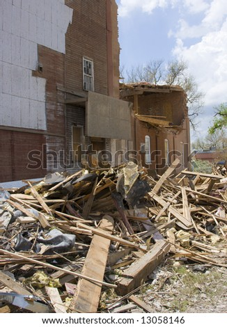 Tornado damage, Windsor Colorado - stock photo