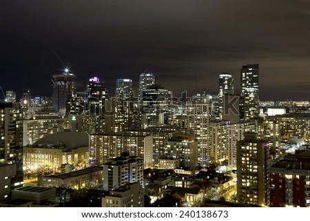 Toronto at night - stock photo