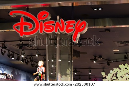 TORONTO,CANADA-MAY 15,2015:Disney store in Eaton Centre. Disney Store is an international chain of specialty Disney related items. Disney Store is a business unit of Disney Consumer Products. - stock photo