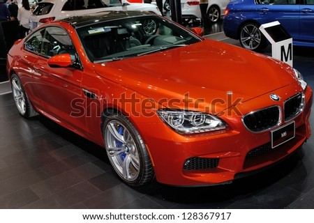 TORONTO-FEBRUARY 14: BMW M6 Coupe at the 2013 Canadian International Auto Show on February 14, 2013 in Toronto - stock photo