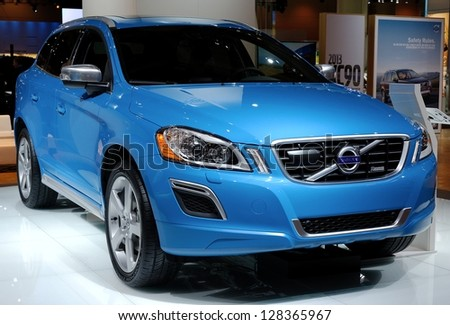 TORONTO-FEBRUARY 14: Volvo XC 60 T6 AWD at the 2013 Canadian International Auto Show on February 14, 2013 in Toronto - stock photo