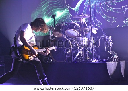 TORONTO - JANUARY 25:  Chris Cornell and Soundgarden Perform at the Sound Academy on  January 25, 2013 in Toronto. - stock photo
