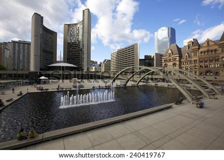 Toronto's City Hall. Toronto, Ontario, Canada.  - stock photo