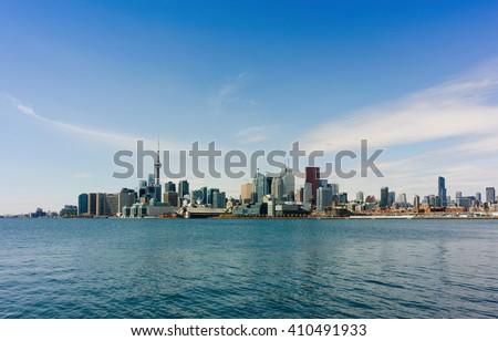 Toronto skyline - east view - stock photo