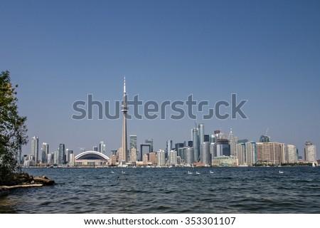Toronto Skyline-Lake View - stock photo