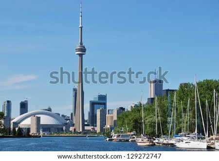Toronto Skyline Waterfront , Canada - stock photo