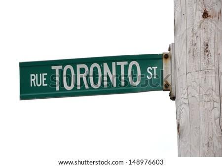 Toronto St. Sign - stock photo