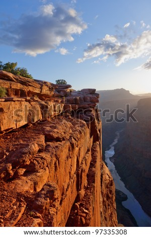 Toroweap point at sunrise, Grand Canyon National Park - stock photo