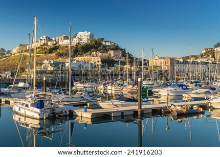 Torquay Marina in South Devon - stock photo