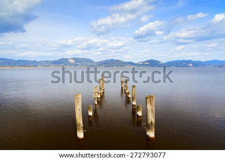 torre del lago view in tuscany - stock photo