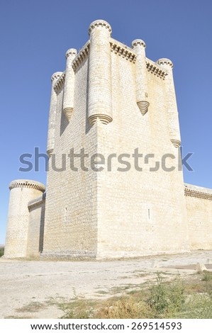 Torrelobaton Castle is  is one of the most important and best-preserved fortresses in Valladolid, Castile and Leon, Spain - stock photo