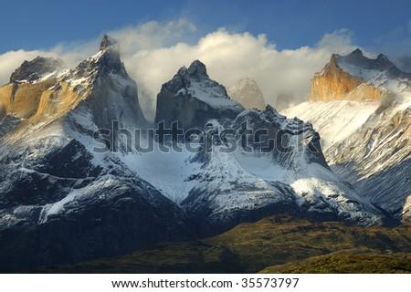 Torres del Paine, Chile - stock photo