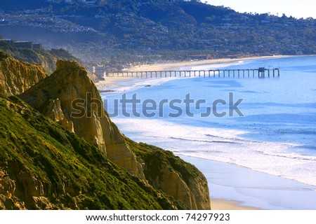 Torrey Pines Beach (Southern California, USA) - stock photo