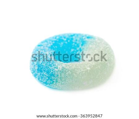 Torus shaped gelatin candy isolated - stock photo