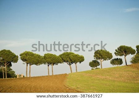 Toskana landscape - stock photo