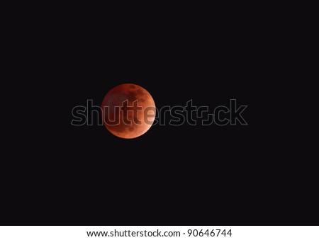Total lunar eclipse on 10 Dec 2011, 17:41:09 at Bahrain - stock photo